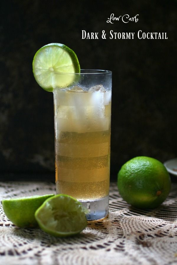 Low Carb Dark and Stormy cocktail is a simple rum beverage that's delicious!