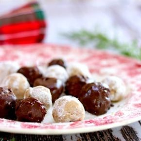 small image of bourbon balls on a plate