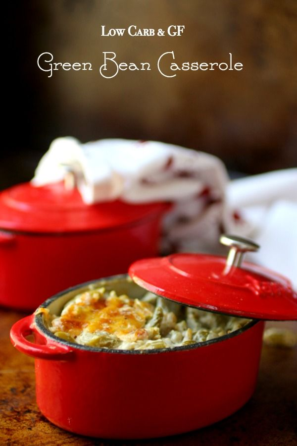 This low carb green bean casserole recipe is rich and creamy.Perfect holiday side dish! From Lowcarb-ology.com