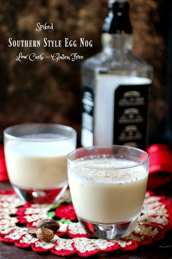 Easy, low carb egg nog recipe is southern style - rich, thick, and spiked! From RestlessChipotle.com
