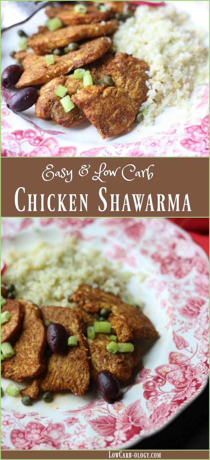 Learn to make this easy chicken shawarma recipe at home. Less than 2 carbs and SO yummy! From Lowcarb-ology.com