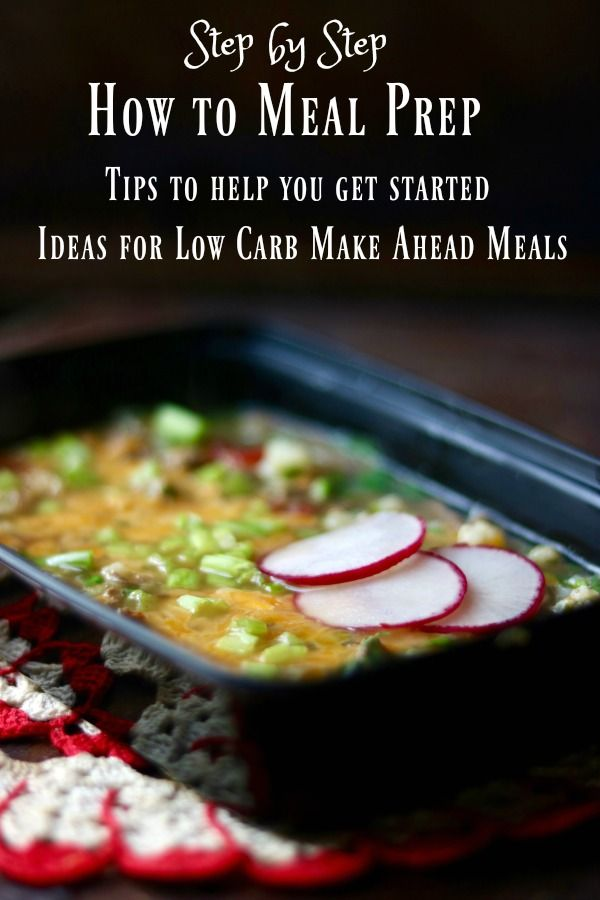 Learn how to meal prep for low carb success with these tips and ideas. From Lowcarb-ology.com