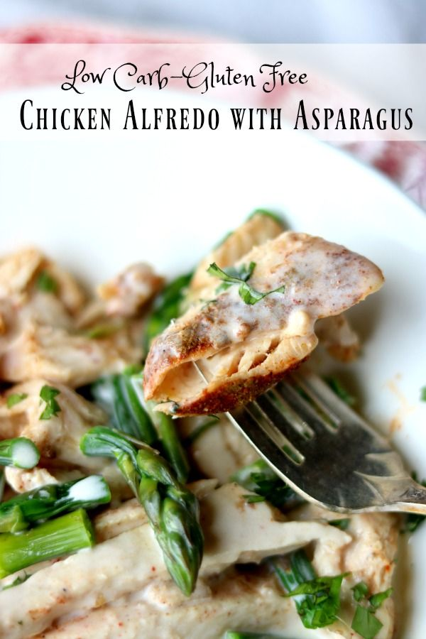 Asparagus chicken alfredo recipe creamy low carb indulgence this chicken alfredo recipe is packed with flavor just 46 net carbs per serving forumfinder Choice Image