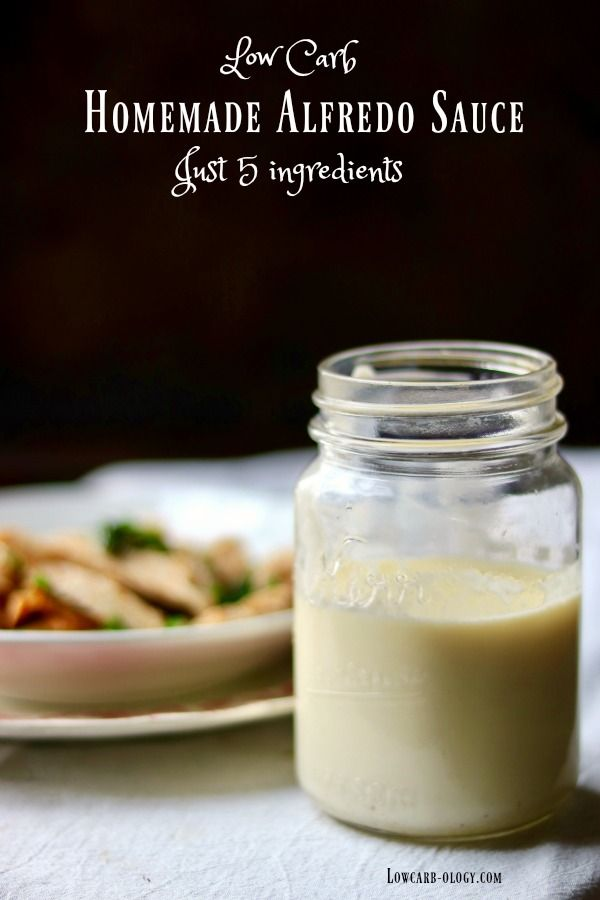 Easy Alfredo sauce recipe is low carb and gluten free! It's so quick - you'll never buy the canned stuff again. From Lowcarb-ology.com