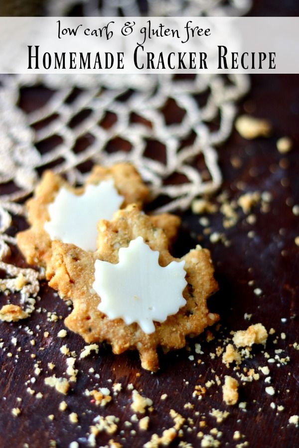 This easy homemade cracker recipe has just 0.7 net carbs per cracker! Gluten free, Atkins friendly, this recipe is awesome! From Lowcarb-ology.com