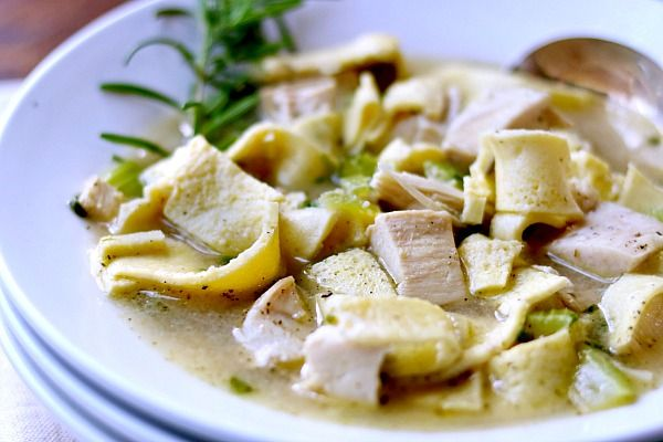 Homemade chicken noodle soup recipe is low carb! Quick and easy. from lowcarb-ology.com