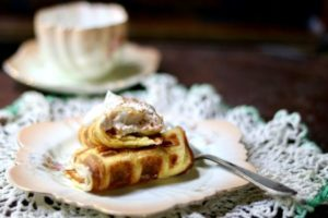 Bavarian Cream Stuffed Waffles: Is It a Waffle or a Crepe