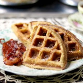 Yummy low carb waffles recipe is made with almond flour. Gluten free and just 4 net carbs. from Lowcarb-ology.com