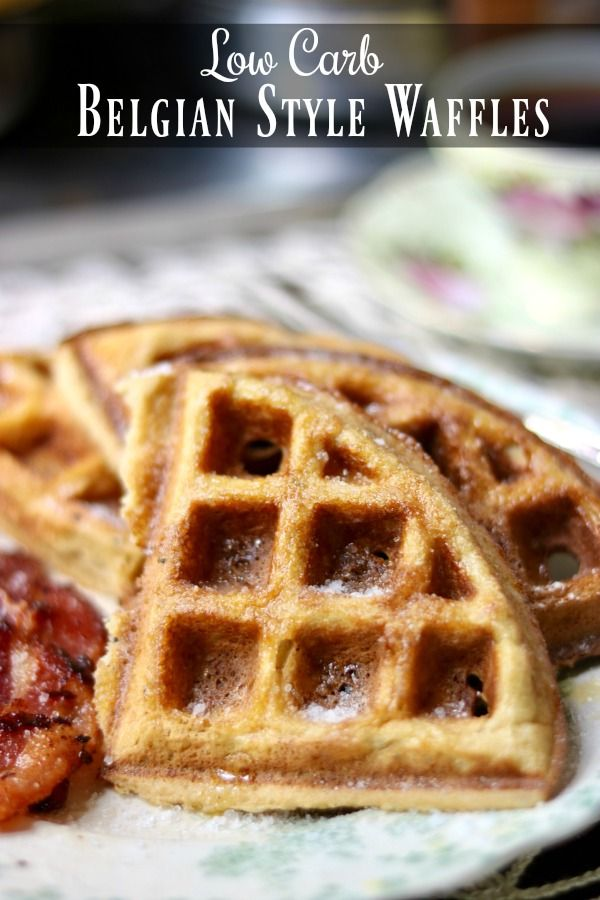 Light and fluffy low carb waffles recipe is crispy with deep wells to hold plenty of butter and your favorite sugar free syrups! From Lowcarb-ology.com
