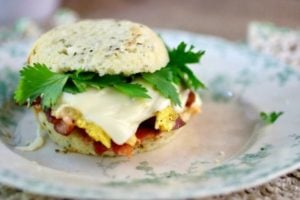 Low Carb Breakfast Sandwich #SundaySupper