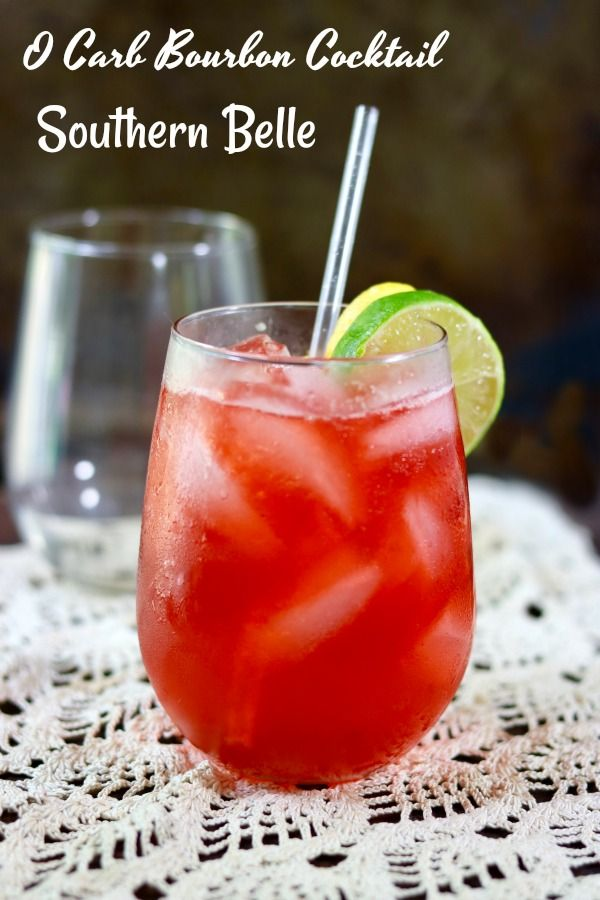 This summer bourbon cocktail recipe is light and refreshing, sweet and tangy, and perfect for long summer afternoons! Just 130 calories and 0 carbs! Lowcarb-ology.com