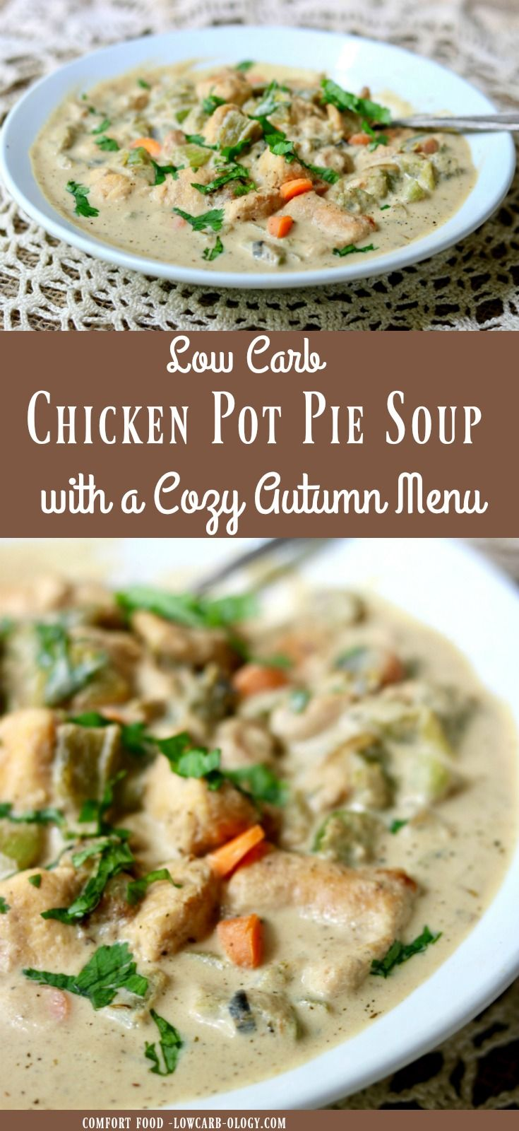 Chicken pot pie soup low carb comfort lowcarb ology chicken pot pie soup recipe is creamy low carb comfort food that will warm your soul forumfinder Images