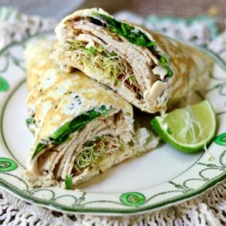 Low carb sandwich wraps bring your favorite sandwiches back to the table. Sturdy, taste great, and have just 1 net carb each. Quick and easy lunch recipe! Store in the refrigerator. From Lowcarb-ology.com