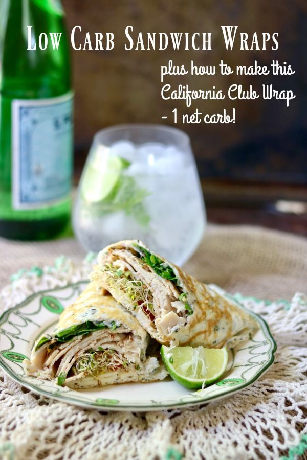 Low carb sandwich wraps bring your favorite sandwiches back to the table. Sturdy, taste great, and have just 1 net carb each. Store in the refrigerator. 1 net carb! From Lowcarb-ology.com