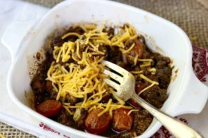 Chili Dog Bake: Low Carb Cheesy Goodness