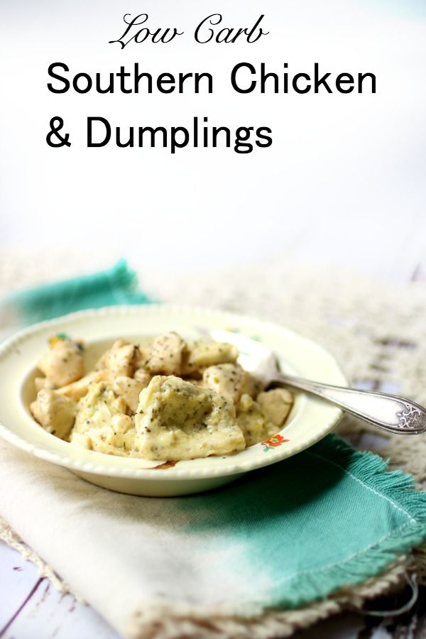 Southern chicken and dumplings in an antique bowl - title image