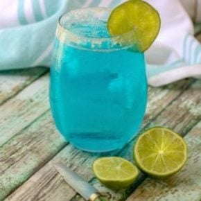 Square image of the ocean breeze cocktail , low carb, and fruity tropical drink