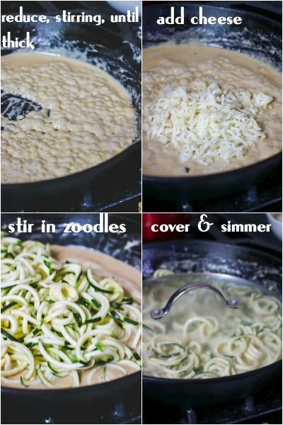 Finishing the low carb chicken tetrazzini - a series of step by step images.