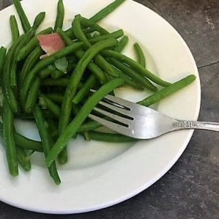 Southern green beans with bacon are bursting with flavor and healthy vitamins.