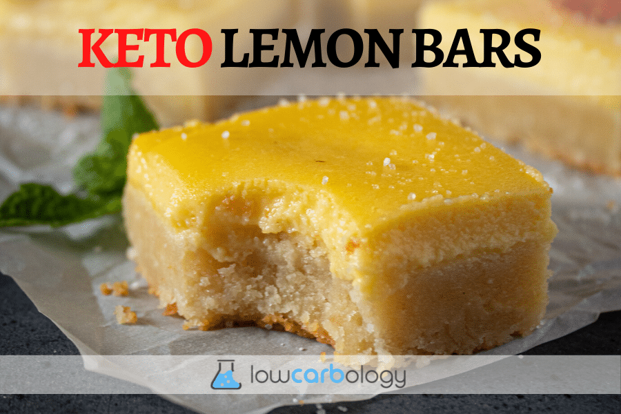 Lowcarb-Ology Keto Lemon Bar Banner Image With Labels