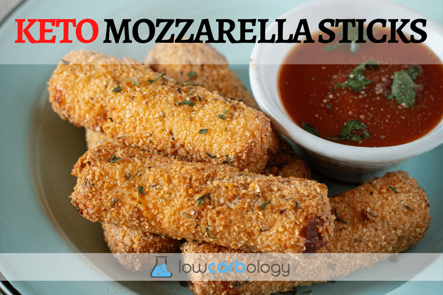 Lowcarb-ology Keto Mozzarella Sticks Recipe banner